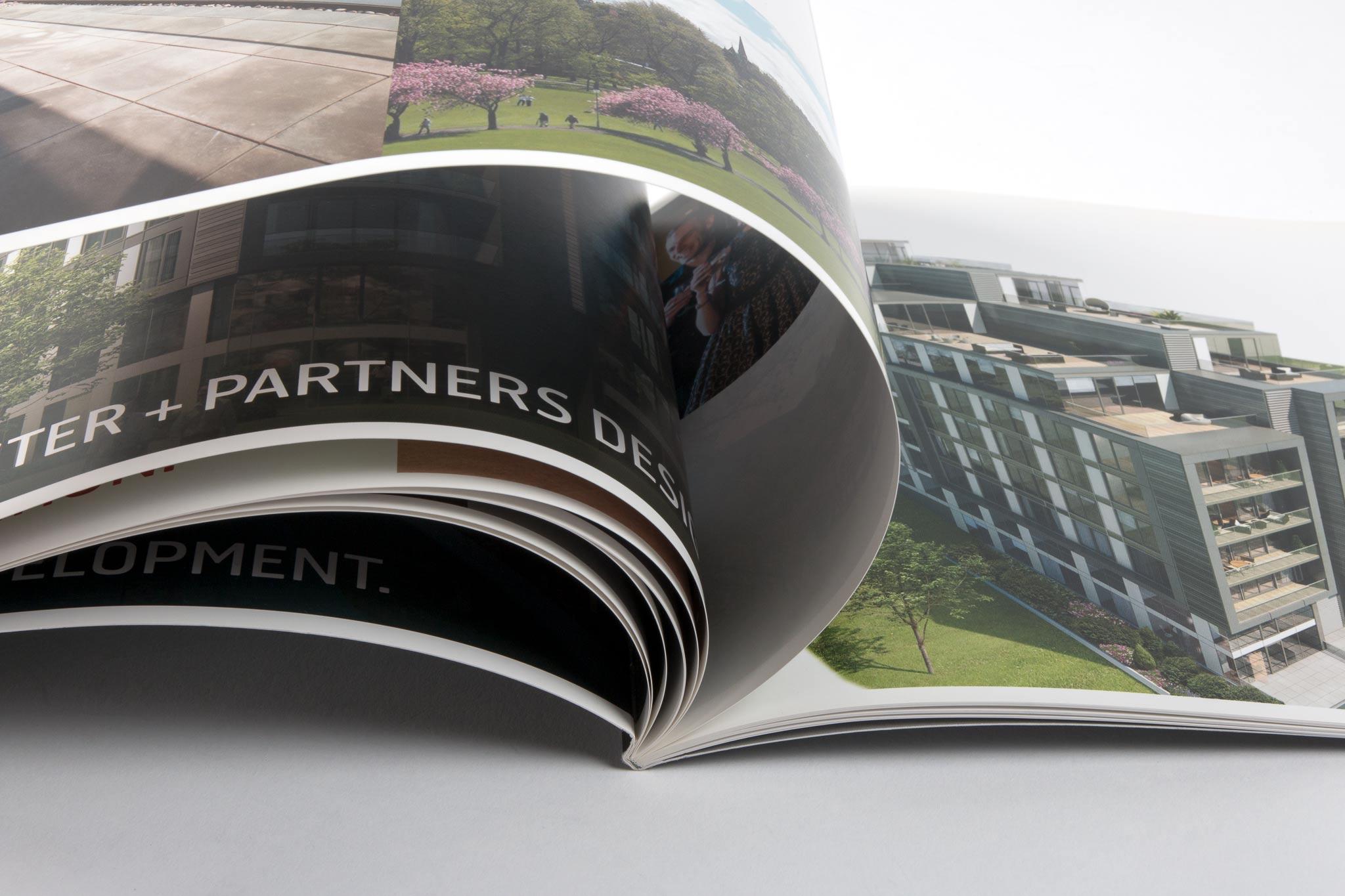 landscape printed property brochure