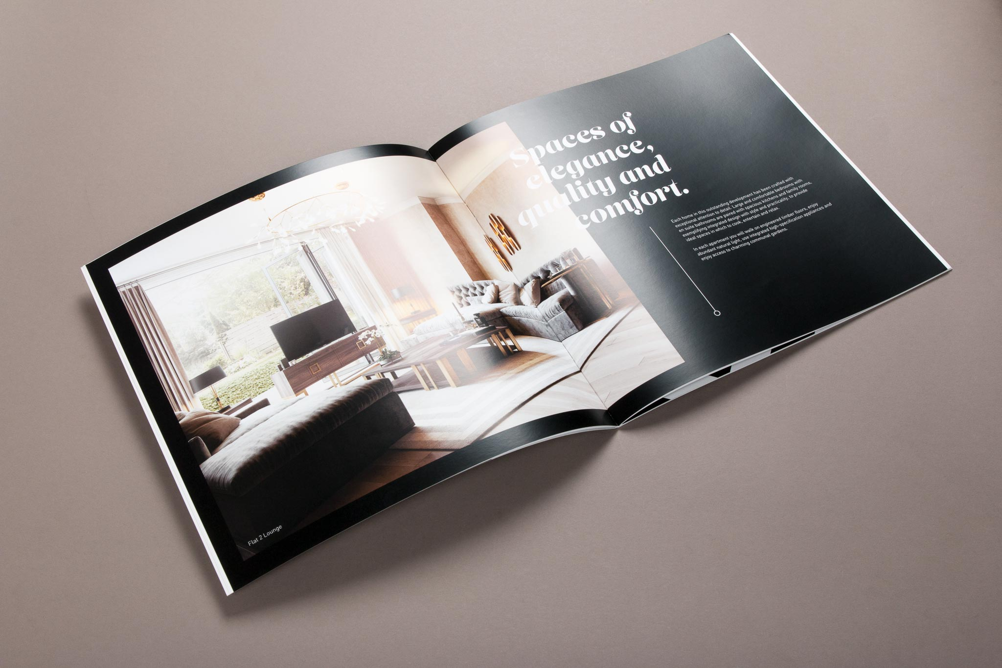 quality printed property brochure