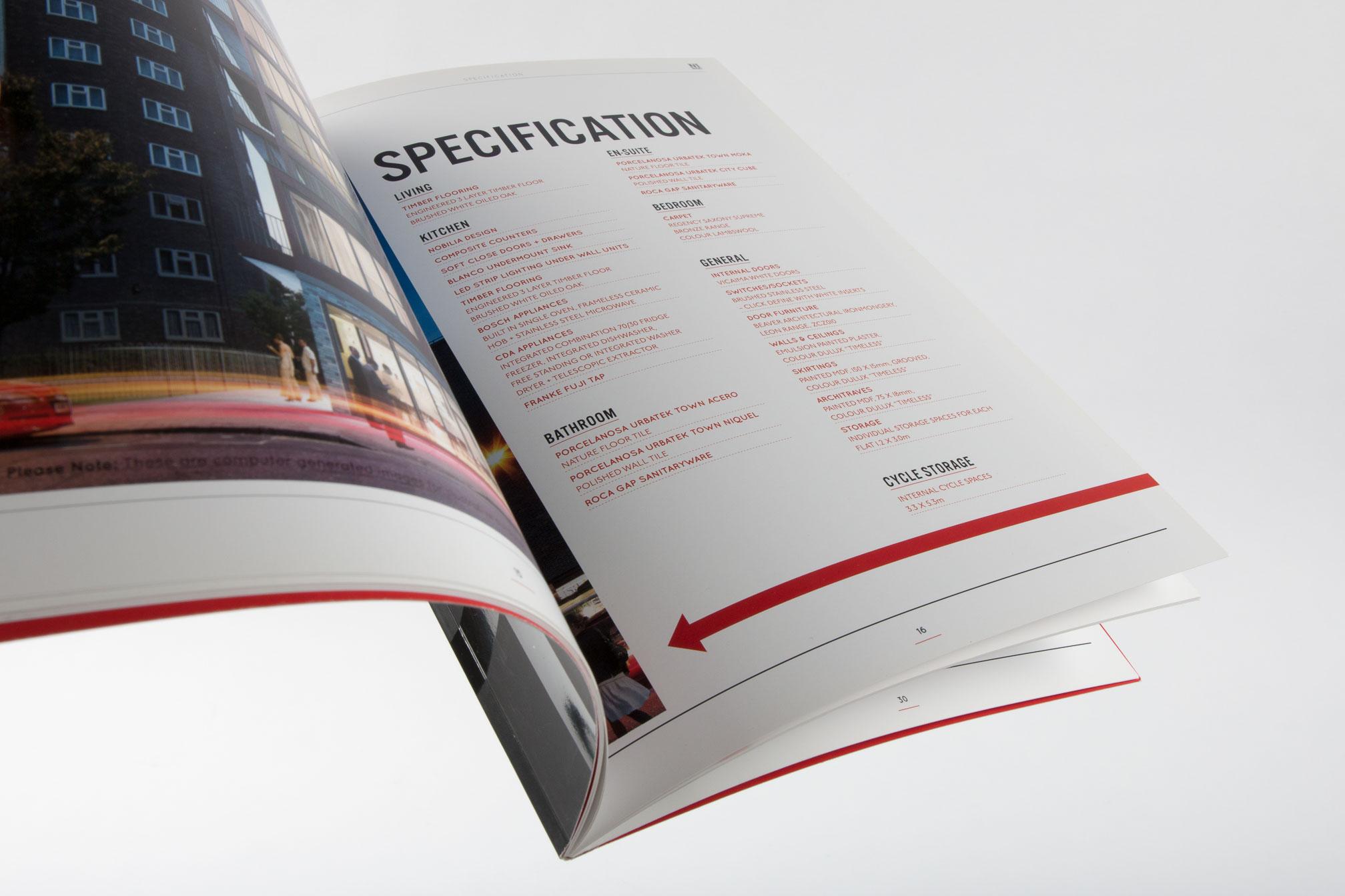 printed property brochure